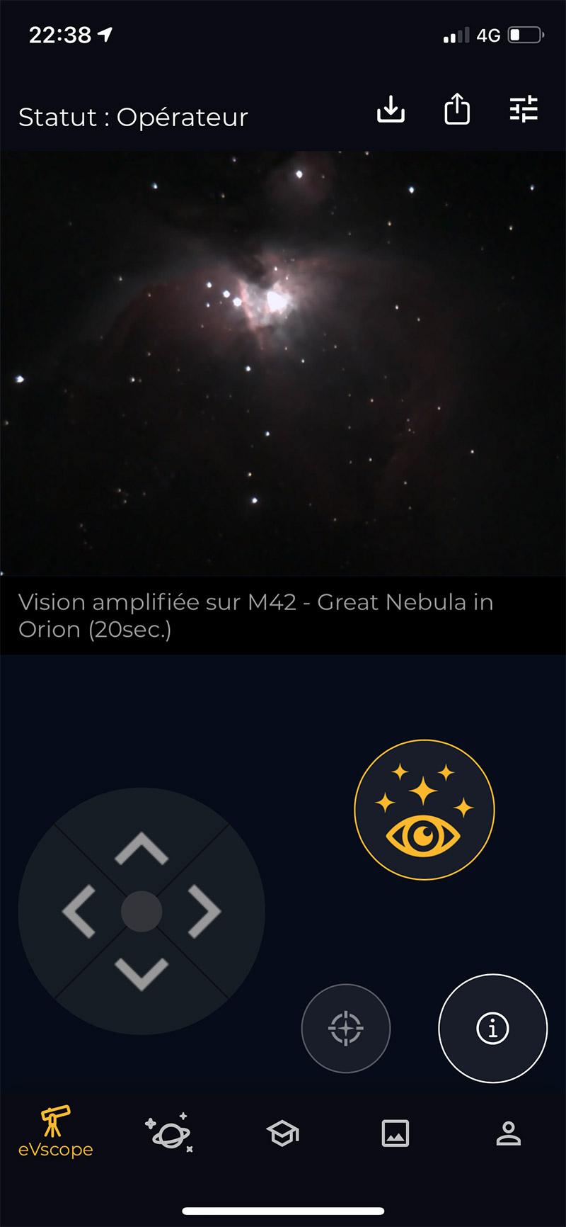 Vision amplifiée sur M42